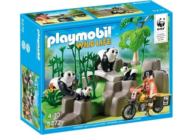 Playmobil 5272 - WWF-Panda Researcher in the Bamboo Forest - Box