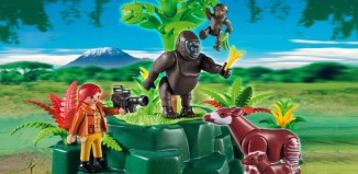 Playmobil - 5273 - WWF-Zoologist with Okapi and Gorillas
