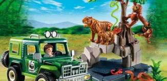Playmobil - 5274 - WWF-SUV with Tigers and Orangutans