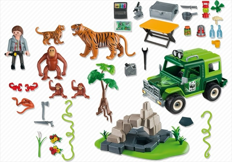 Playmobil 5274 - WWF-SUV with Tigers and Orangutans - Back