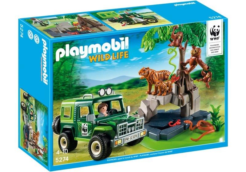 Playmobil 5274 - WWF-SUV with Tigers and Orangutans - Box