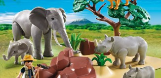 Playmobil - 5275 - WWF-Researcher with African savannah animals