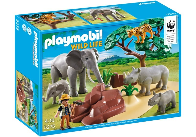 Playmobil 5275 - WWF-Researcher with African savannah animals - Box