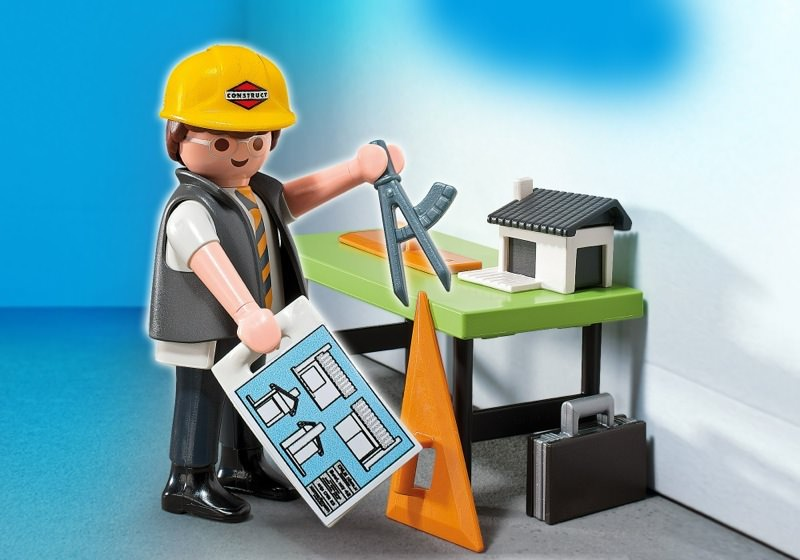 Playmobil set 5294 architect with planning table for Table playmobil