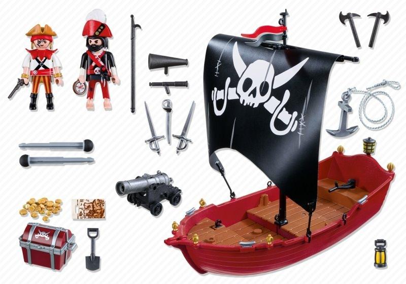 Playmobil 5298 - skull & bones corsair - Back