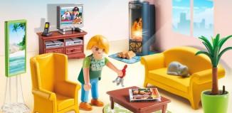 Playmobil - 5308 - Wohnzimmer mit Kaminofen