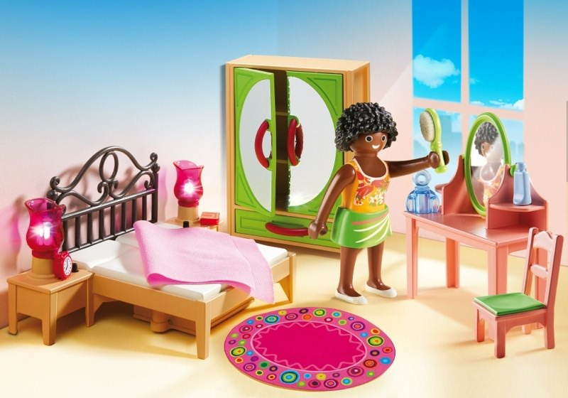 playmobil set 5309 schlafzimmer mit schminktischchen. Black Bedroom Furniture Sets. Home Design Ideas
