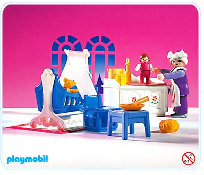 Playmobil set 5313 nursery klickypedia for Chambre playmobil