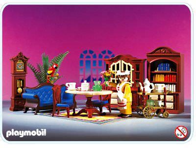Playmobil set 5316 blue dining room klickypedia for Wohnzimmer playmobil