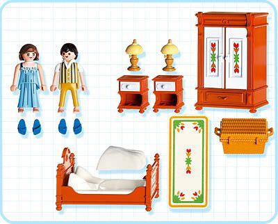 Playmobil 5319 - Bedroom - Back