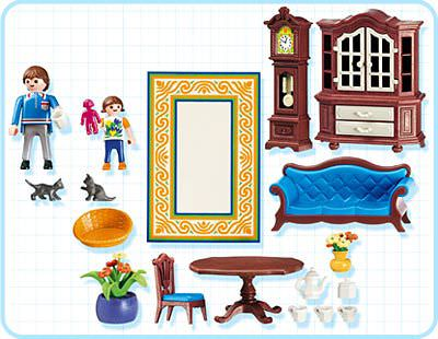 Playmobil 5327 - Living Room - Back