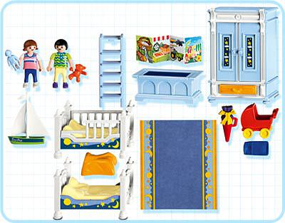 Playmobil 5328 - Kids' Room - Back