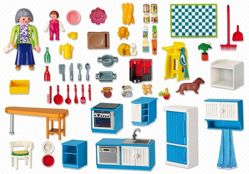 Playmobil set 5329 grand kitchen klickypedia for Kitchen set rate