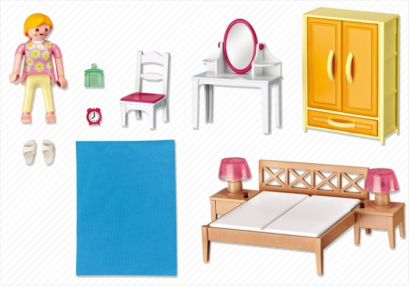 Playmobil set 5331 parents bedroom klickypedia - Chambre parents playmobil ...