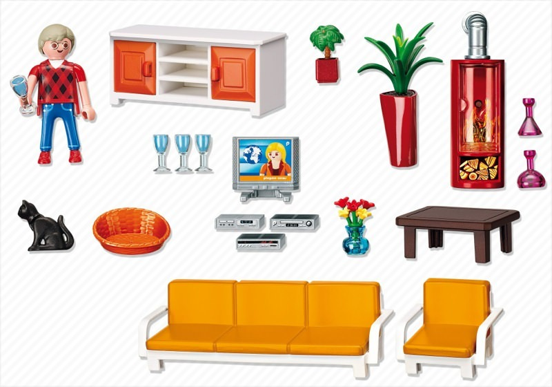 Playmobil 5332 - Comfortable Living Room - Back