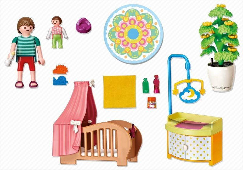 Playmobil 5334 - Baby Room with Mobile - Back