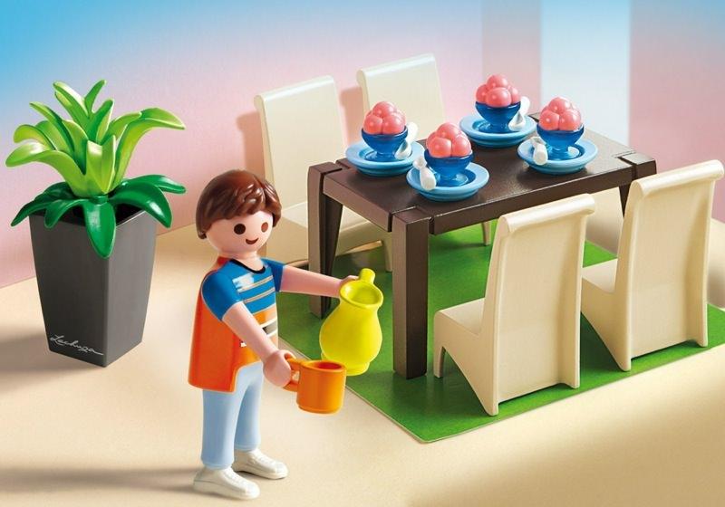 Playmobil set 5335 grand dining room klickypedia for Salle a manger playmobil