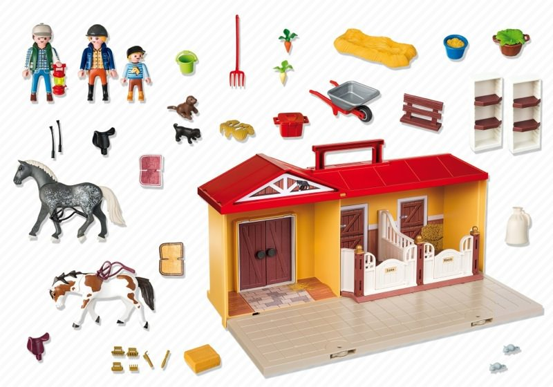 Playmobil 5348 - Take-along Stable - Back