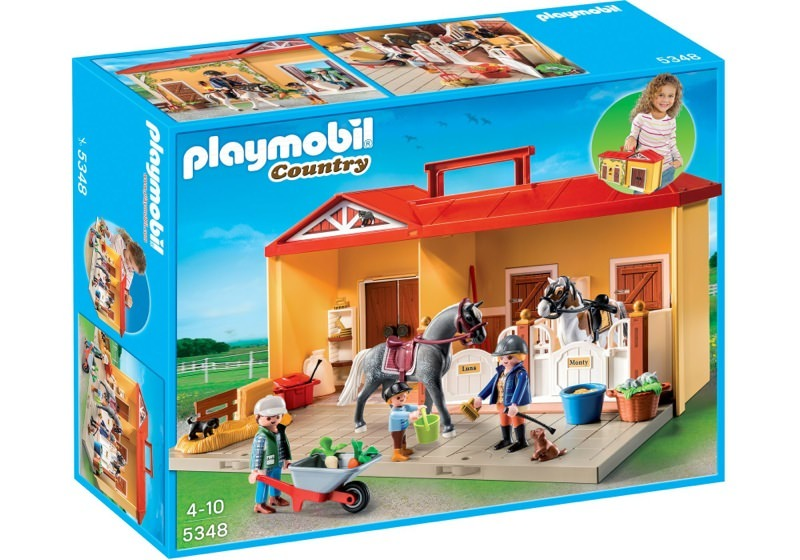 Playmobil 5348 - Take-along Stable - Box
