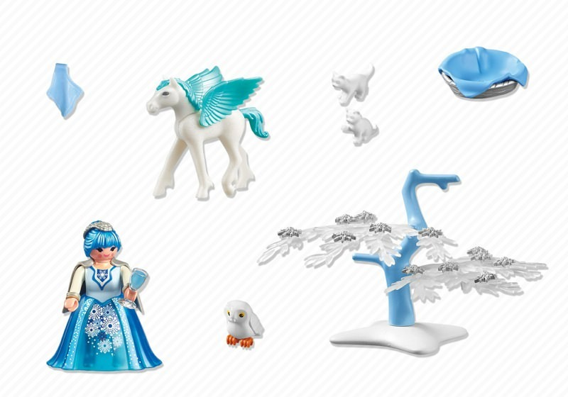 Playmobil 5354 - Winter Fairy with Pegasus 'Snowflake' - Back