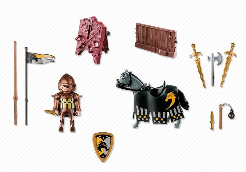 Playmobil 5357 - Wild Horse Tournament Knight - Back