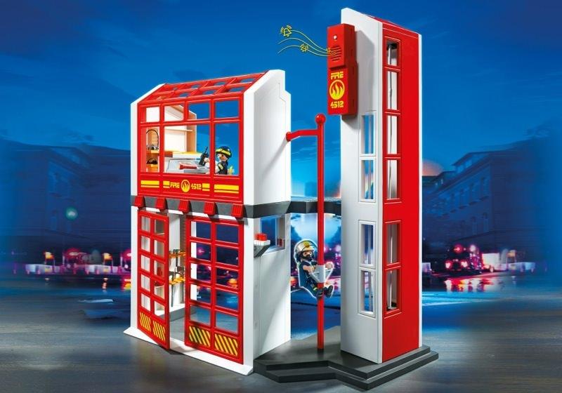 playmobil set 5361 feuerwehrstation mit alarm klickypedia. Black Bedroom Furniture Sets. Home Design Ideas