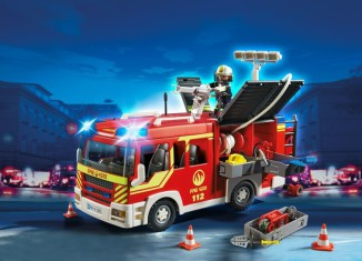Playmobil - 5363 - Camion de pompiers avec lumière & son