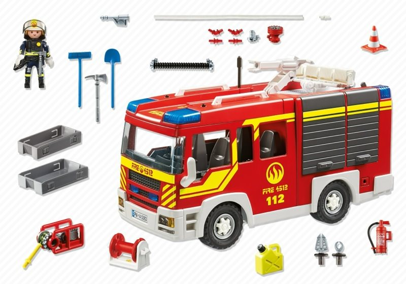 Playmobil 5363 - Extinguishing group vehicle with light and sound - Back