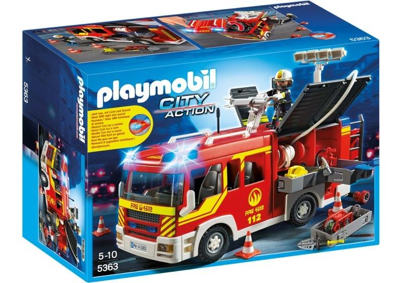 Playmobil 5363 - Camion de pompiers avec lumière & son - Boîte