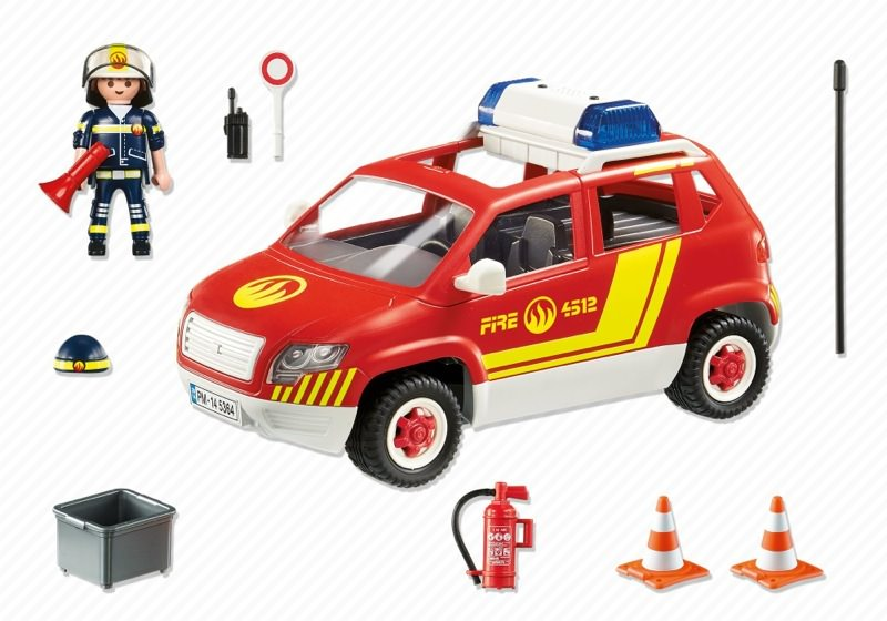 Playmobil 5364 - Fire Chief vehicle with light and sound - Back