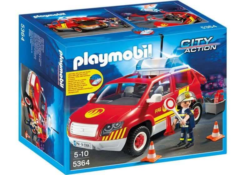 Playmobil 5364 - Fire Chief vehicle with light and sound - Box