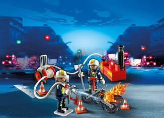 Playmobil - 5365 - Firefighters with fire pump