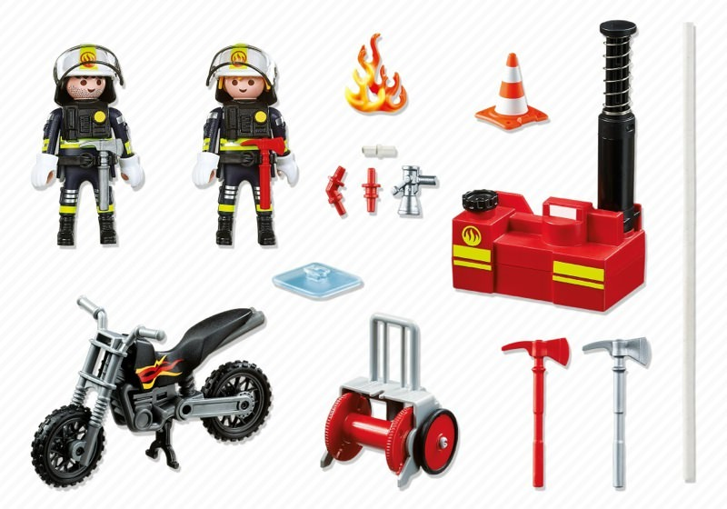 Playmobil 5365 - Firefighters with fire pump - Back