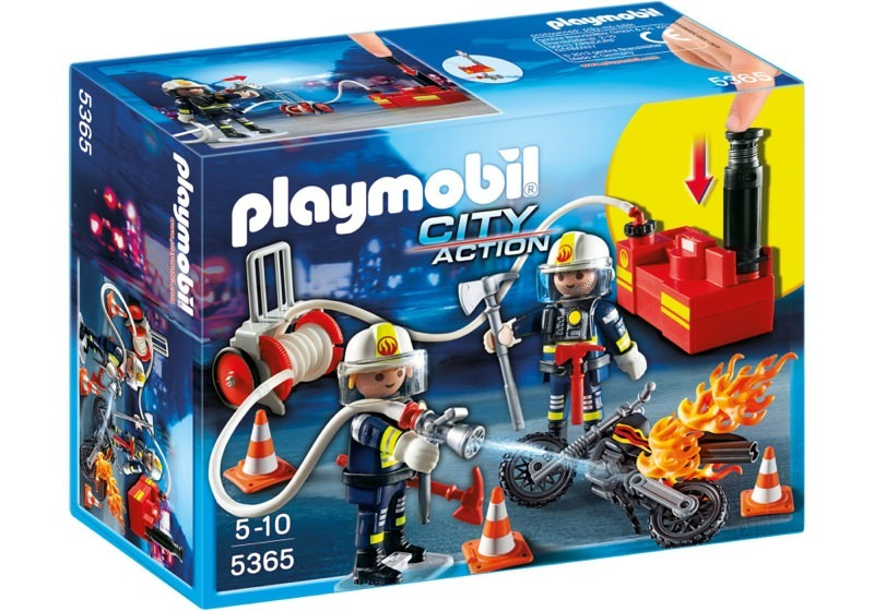 Playmobil 5365 - Firefighters with fire pump - Box