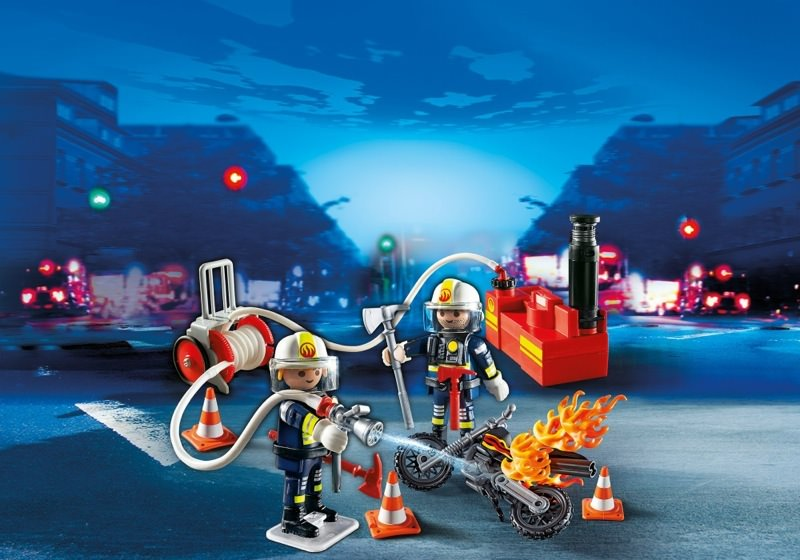 Playmobil Set: 5365 - Firefighters with fire pump - Klickypedia