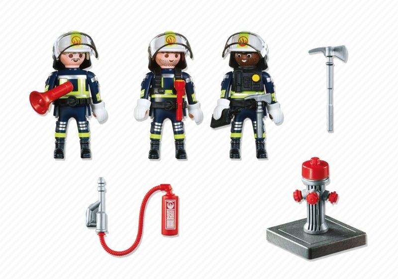 Playmobil 5366 - Firemen team - Back