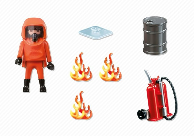 Playmobil 5367 - Specialized fireman - Back