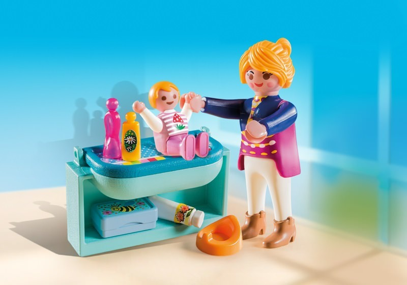 Playmobil set 5368 mother and child with changing table for Table playmobil