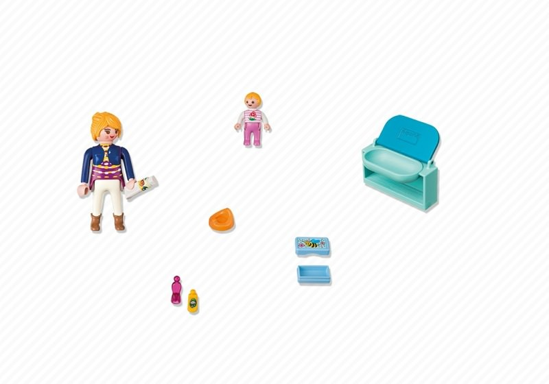 Playmobil 5368 - Mother and Child with Changing Table - Back
