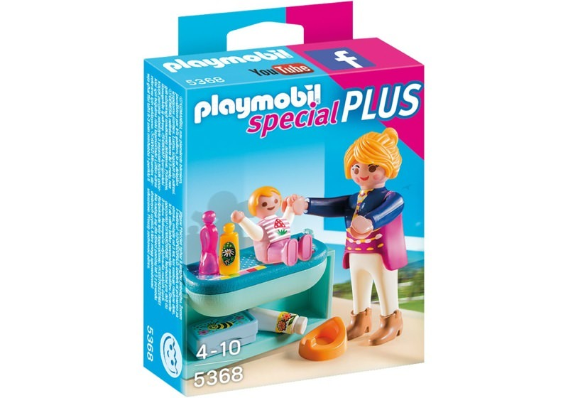 Playmobil 5368 - Mother and Child with Changing Table - Box