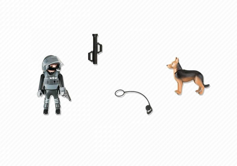 Playmobil 5369 - Police with dog - Back