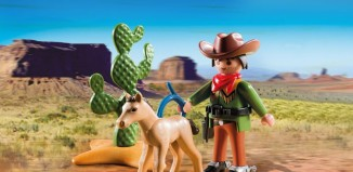 Playmobil - 5373 - Cowboy with foal