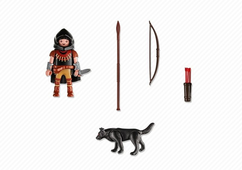 Playmobil 5408 - Huntsman with Wolf - Back