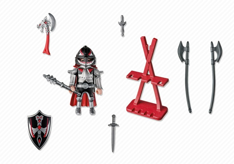 Playmobil 5409 - Knight with axe and armourer - Back