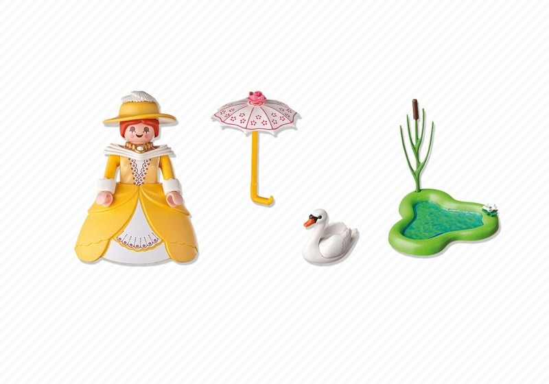 Playmobil 5410 - Victorian lady with Pond - Back