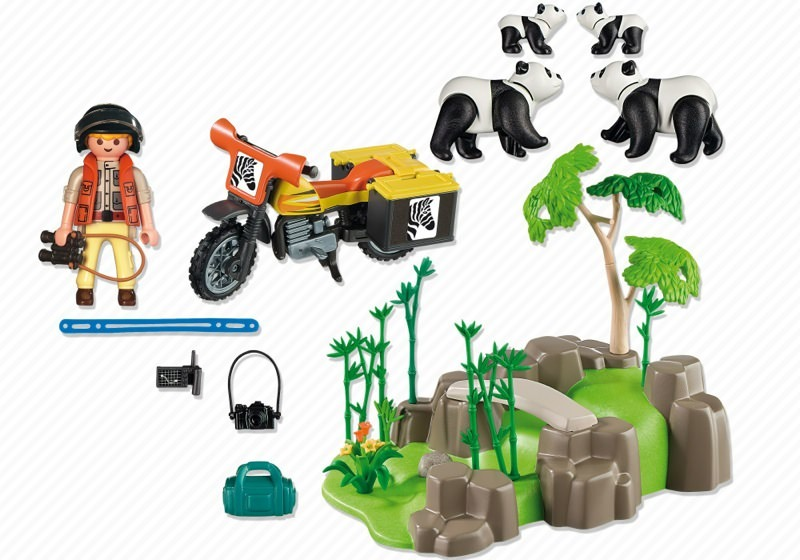 Playmobil 5414 - Panda Researcher in the Bamboo Forest - Back