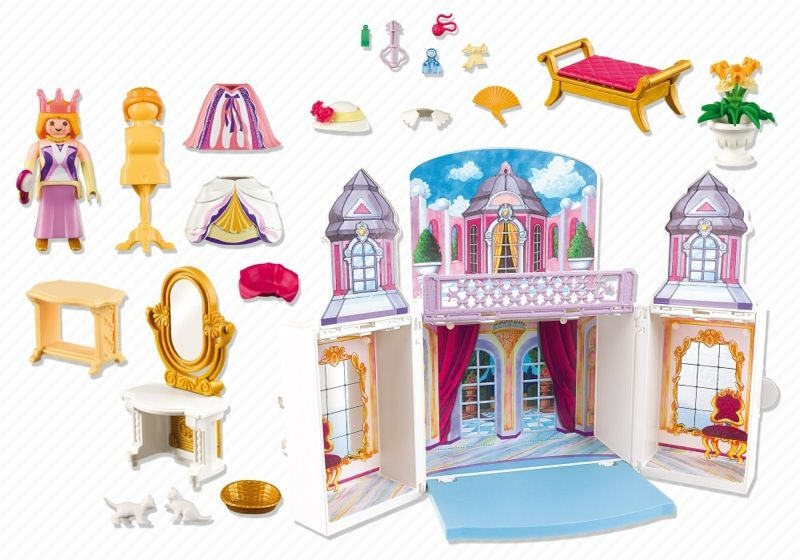 Playmobil set 5419 take along princess castle klickypedia for Cuisine playmobil