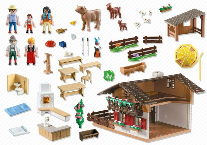 Playmobil 5422 - Alpine Hut - Back