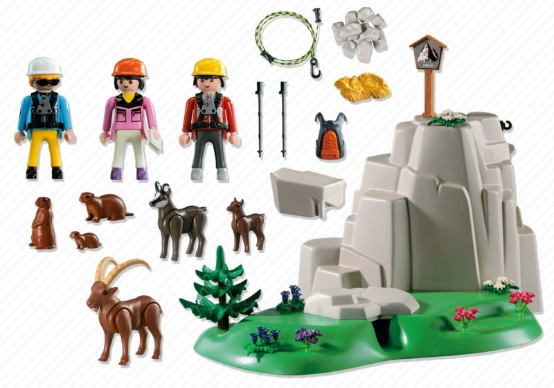 Playmobil 5423 - Rock Climbers with Mountain Animals - Back