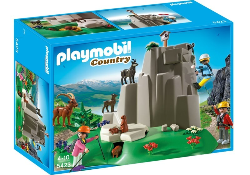 Playmobil 5423 - Rock Climbers with Mountain Animals - Box